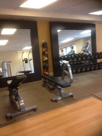 Hilton Garden Inn Beaufort: Nice to have assorted dumbbells for weight workouts