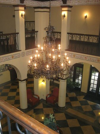 1929 Hotel Seville: From the second floor inside balcony / common area