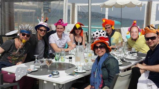 Barco Beach Restaurant: A few friends at the 30th Barco Beach April 2014