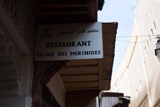 Palais de Merinides : Вывеска