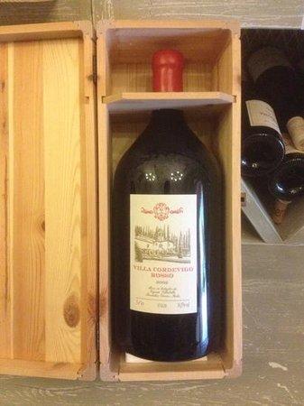 Villa Cordevigo Wine Relais: Hauseigener Wein
