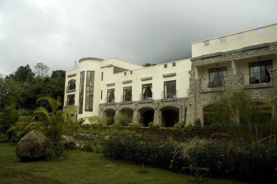Hotel Residencial El Valle: Aanzicht van kamer vanaf de tuinzijde