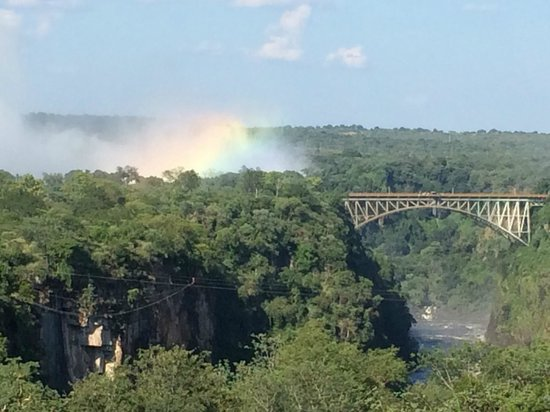 Livingstone Room at Victoria Falls Hotel: view from stanley's terrace