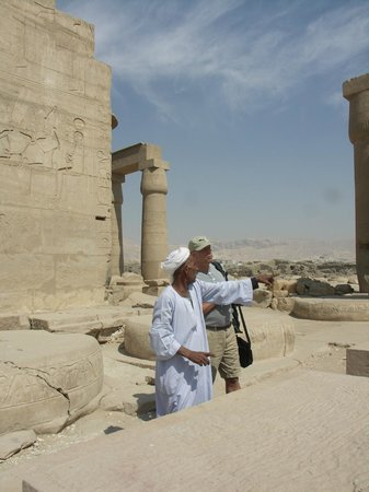 Ramesseum (Mortuary Temple of Ramses II): Our local guide showing us around