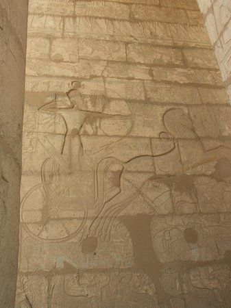 Ramesseum (Mortuary Temple of Ramses II): Ramesses at the battle of Kaddesh