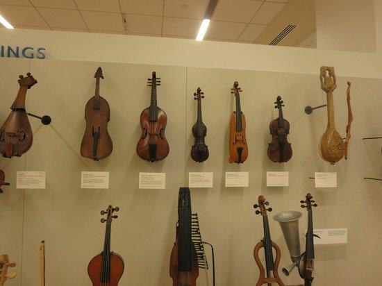 Musical Instrument Museum: violins