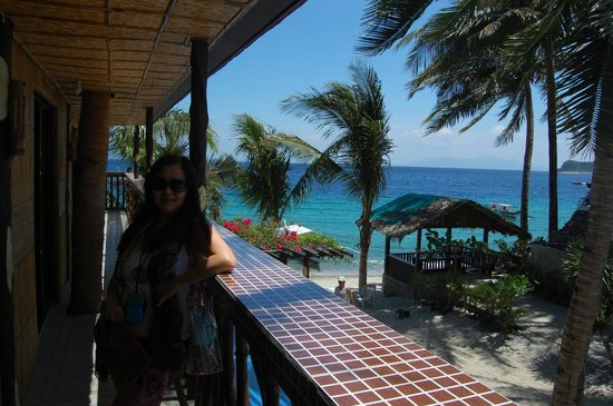 Bamboo House Beach Lodge & Restaurant: outside our sea view room