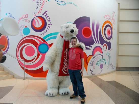 World of Coca-Cola : Me with Coca Cola's mascot :)