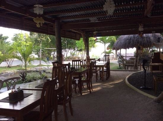 Sea Turtle House Moalboal: The little restaurant