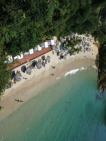 Grand Bahia Principe Cayacoa : View of the Main beach from elevator bridge