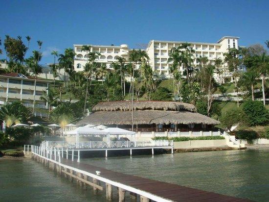 Grand Bahia Principe Cayacoa : View from the smaller 2nd beach.