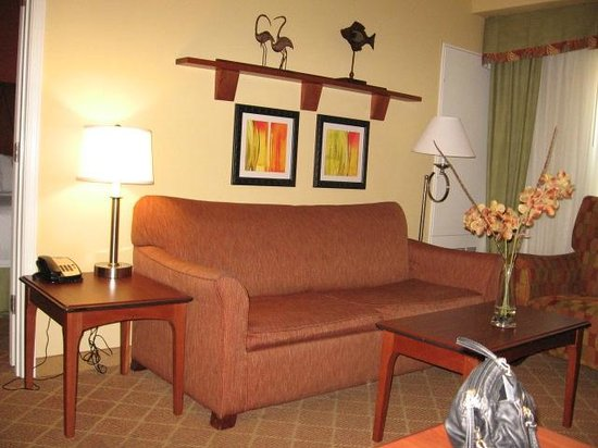 Residence Inn Baton Rouge Towne Center at Cedar Lodge: Sitting area of suite 118