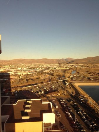 Grand Sierra Resort and Casino : Our view up on 17th floor...