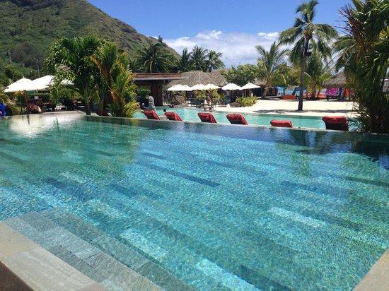 InterContinental Moorea Resort & Spa: LA PISCINE ENOOORME