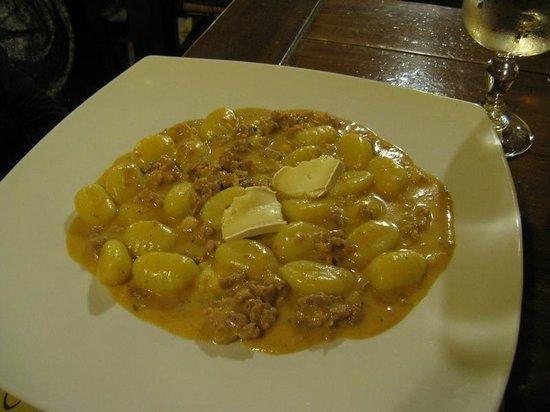 Il Baro: Gnocchi with brie