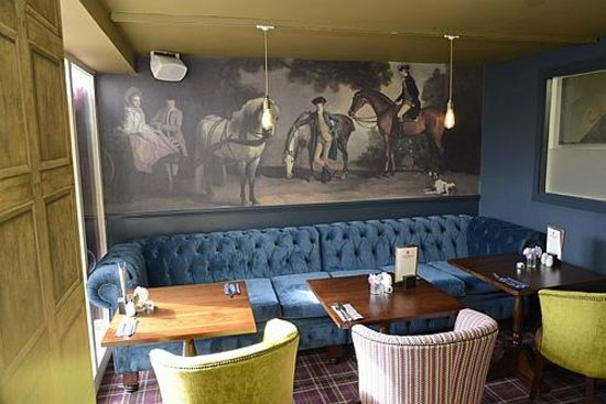 The Crown Inn: The dining height sofa
