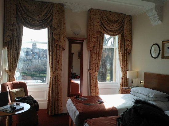 The Old Waverley Hotel : Habitación doble (dos camas)