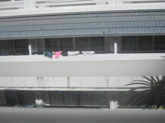 Burasari Resort: View from the room - someones washing!