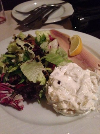 Prasna Basta: Smoked trout with Russian Salad