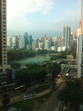Lanson Place Hotel: View from my room! Great for HK standard!