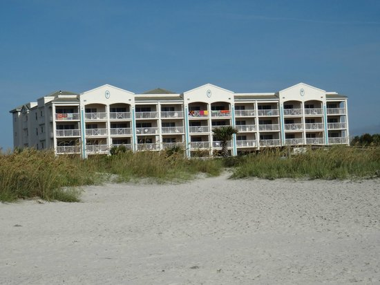 Holiday Inn Club Vacations Cape Canaveral Beach Resort: Ocean Front building (view from the ocean)