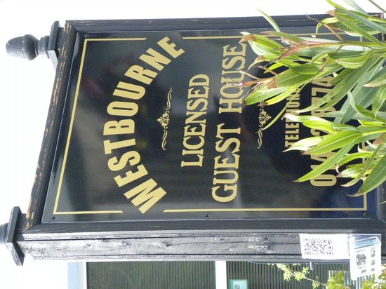 Westbourne Guest House: Sign