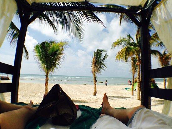 Secrets Silversands Riviera Cancun : Our Beach Bed
