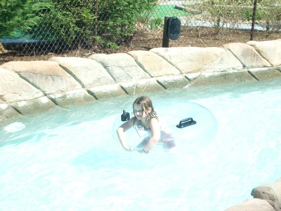 Wilderness at the Smokies Resort: My granddaughter enjoying the Lazy River
