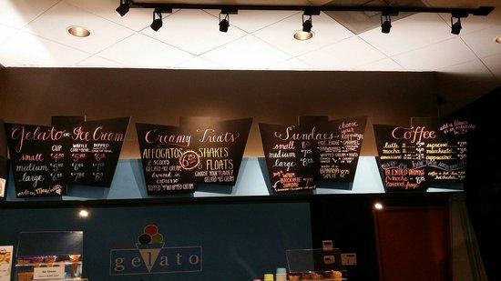 Maui Gelato: Gelato/ice cream/coffee menu
