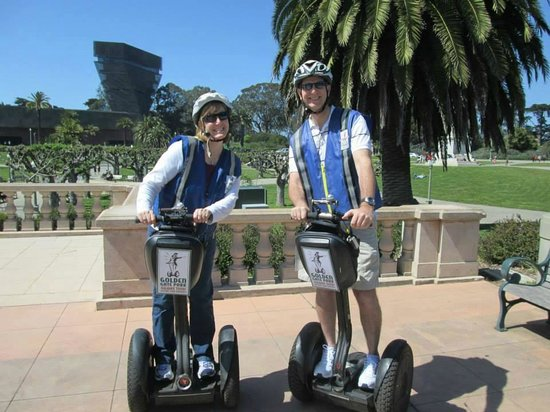 Electric Tour Company Segway Tours: in front of the DeYoung Museum at Golden Gate Park