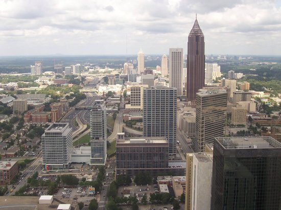 The Westin Peachtree Plaza: View from restaurant