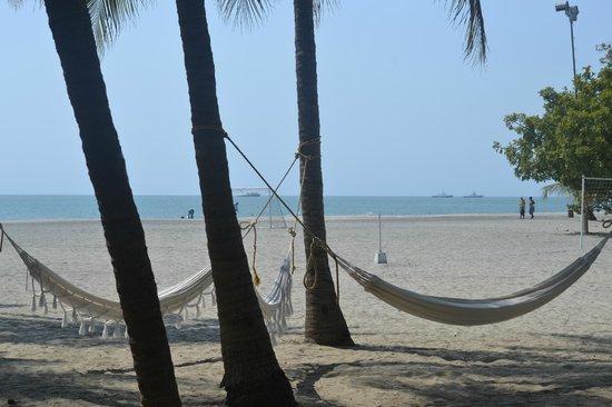 Irotama Resort : Hammocks by the beach (from the hotel)