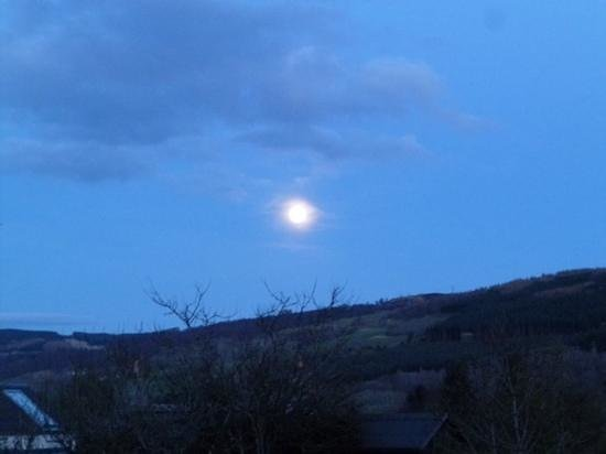 The Steading: full moon over The Stesding.