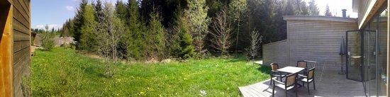 Center Parcs - Les Trois Forêts: vue pano de la terrasse