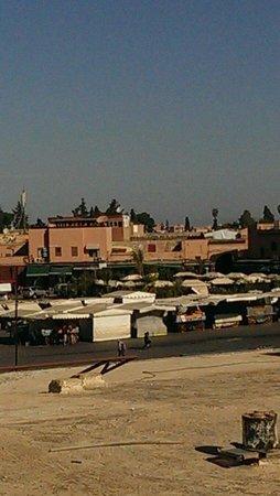 Hotel Cecil Marrakech: Blick von der Terrasse