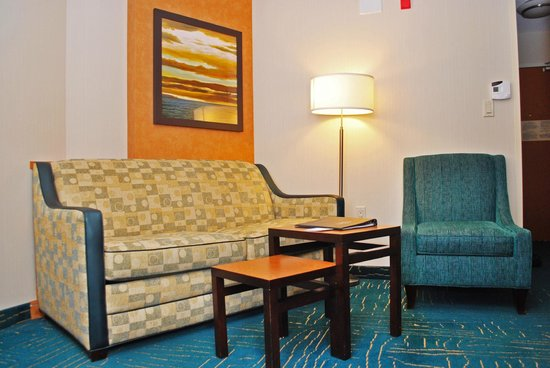 Fairfield Inn & Suites Sault Ste. Marie: Executive Suite Living Room