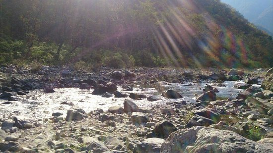 Camp Wildex Rishikesh: Beautiful river flowing just outside Rishikesh camp