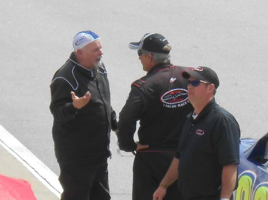 """Dale Jarrett Racing Adventure: Me with my instructor and complimenting him on letting me go """"Full Throttle"""""""