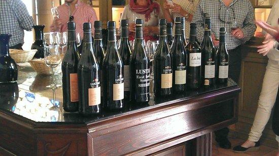 Lustau winery : Degustation