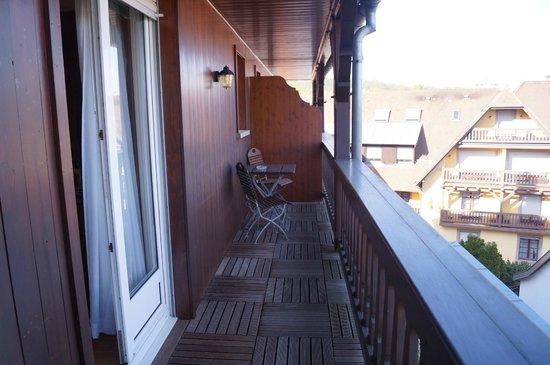 Hostellerie des Châteaux & Spa : le balcon
