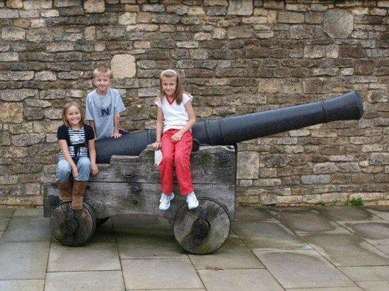 Lincoln Castle: Canon outside