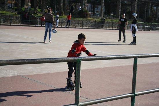 Playa Samil: Pista de patinaje