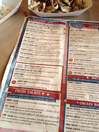River City Cafe : Menu