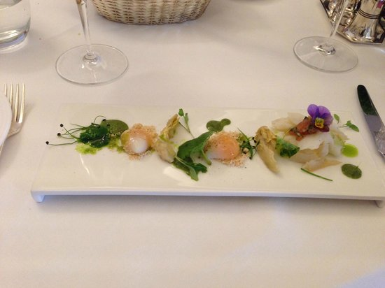 The Lyttelton: Smoked halibut and quail's eggs