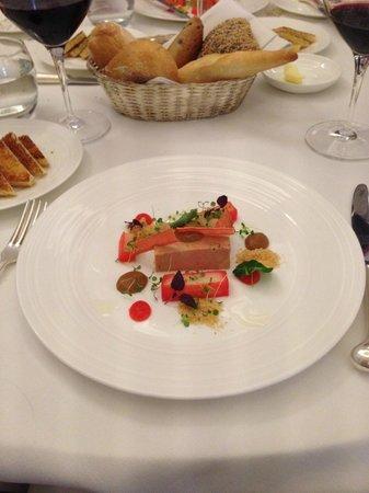 The Lyttelton: Foie gras and rhubarb