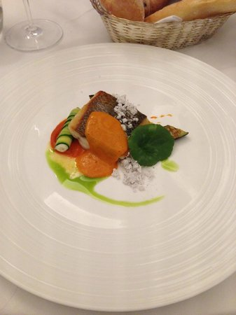 The Lyttelton: Sea bass and red pepper