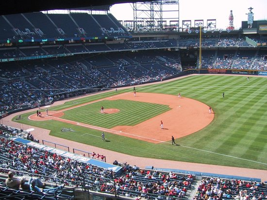 Turner Field: View from a company skybox suite
