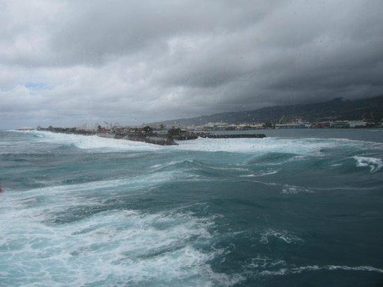 Passe de Papeete vue depuis le Aremiti Ferry2