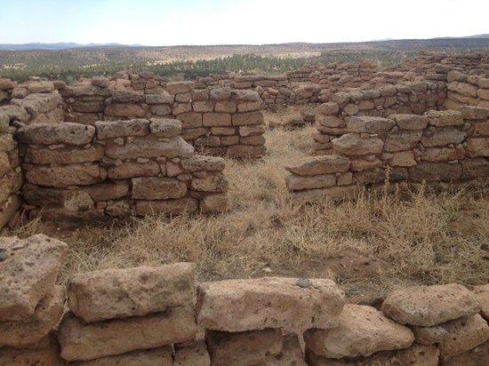 Puye Cliff Dwellings: ruins