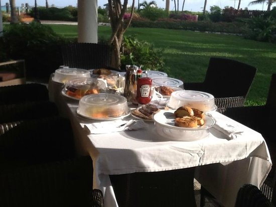 Beaches Turks & Caicos Resort Villages & Spa: Breakfast on the terrace courtesy of our Butlers!